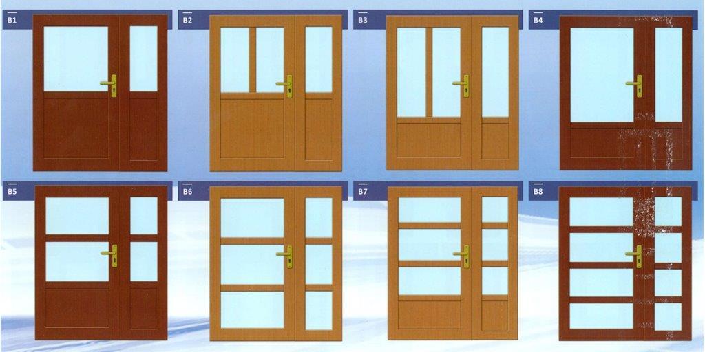 Vzory vchodových dveří I.